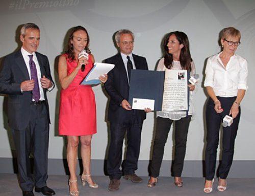 Da sx Alfredo Pratolongo Chiara Beria di Argentine Enrico Mentana la premiata Lucia Goracci RaiNews24 e Milena Gabanelli