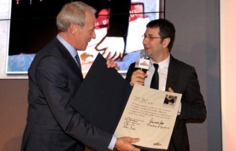 Edwin Botterman premia Fabio Fazio per Vieni via con me ? Rai3