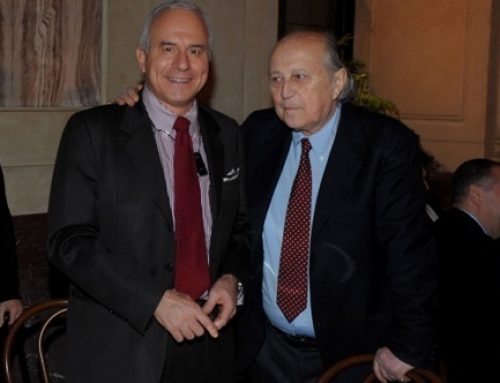 Giancarlo Galli con un ospite