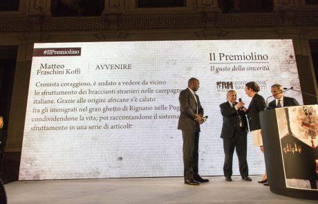 Matteo Fraschini Koffi (premiato) con Giancarlo Galli, Chiara Beria di Argentine e Alfredo Pratolongo (giurati)