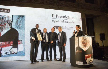 Matteo Fraschini Koffi (premiato) con Giancarlo Galli, Piero Colaprico, Alfredo Pratolongo e Chiara Beria di Argentine(giurati) 2