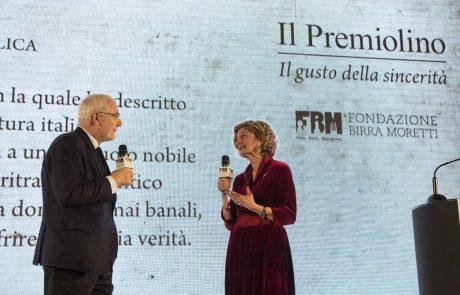 Antonio Gnoli (premiato) con Donata Righetti (giurata)