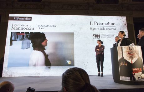 un momento della premiazione di Francesca Mannocchi