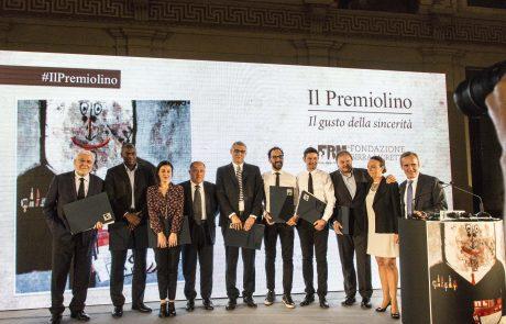 I premiati 2016 con Chiara Beria di Argentine (presidente Giuria) e Alfredo Pratolongo (vice presidente Fondazione Birra Moretti, giurato)