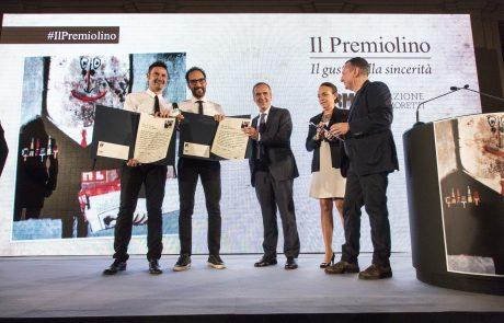 Fede & Tinto (premiati) con i giurati Alfredo Pratolongo, Chiara Beria di Agentine e Piero Colaprico