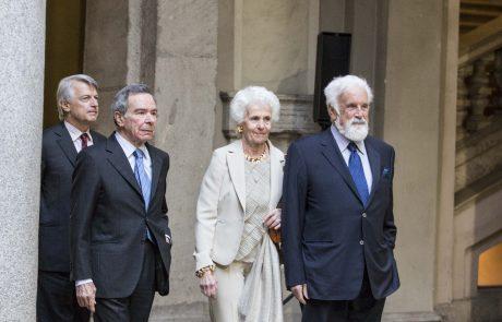 Ferruccio de Bortoli e Giulio Anselmi (giurati) con Cesare Rimini e signora