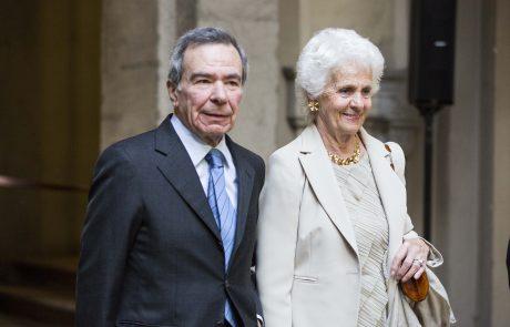 Giulio Anselmi (giurato) con la signora Rimini