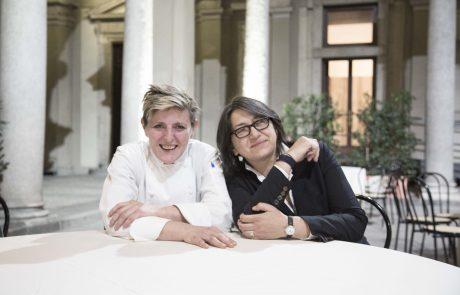 La chef Viviana Varese e la maitre Sandra Ciciriello di Alice Ristorante Milano