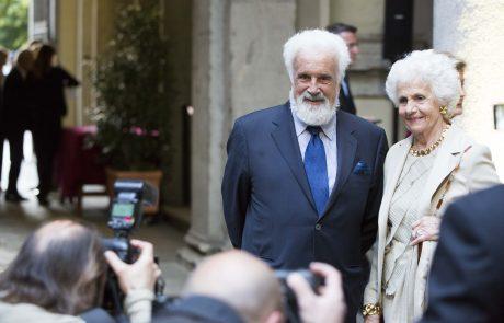 L'avvocato Cesare Rimini con la moglie