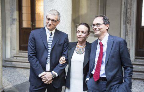 Marco Imarisio (premiato), Chiara Beria di Argentine (presidente Giuria) e Venanzio Postiglione (vice direttore Corriere della Sera)